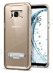 Spigen Crystal Hybrid Samsung Galaxy S8 Gold Maple Kılıf