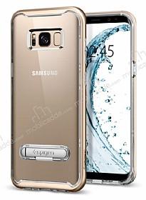 Spigen Crystal Hybrid Samsung Galaxy S8 Gold Maple Kılıf