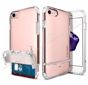 Spigen Flip Armor iPhone 7 / 8 Rose Gold Kılıf
