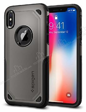 Spigen Hybrid Armor iPhone X / XS Ultra Koruma Gunmetal Kılıf