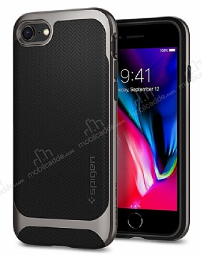 Spigen Neo Hybrid Herringbone iPhone 7 Plus / 8 Plus Gun Metal Kılıf