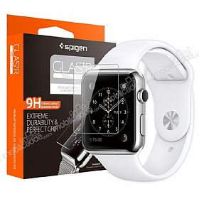 Spigen Oleophobic Coated Apple Watch Glas.tR Slim Premium Cam Ekran Koruyucu (38mm)