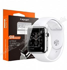 Spigen Oleophobic Coated Apple Watch / Watch 2 Glas.tR Slim Premium Cam Ekran Koruyucu (42mm)