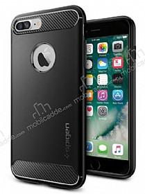Spigen Rugged Armor iPhone 7 Plus Siyah Silikon Kılıf