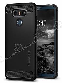 Spigen Rugged Armor LG G6 Siyah Silikon Kılıf