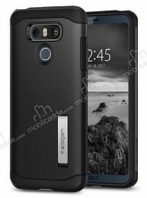 Spigen Slim Armor LG G6 Siyah Rubber Kılıf