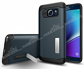 Spigen Slim Armor Samsung Galaxy Note 5 Koyu Mavi Kılıf