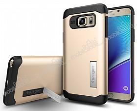 Spigen Slim Armor Samsung Galaxy Note 5 Gold Kılıf