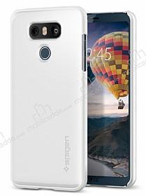 Spigen Thin Fit LG G6 Shimmery White Rubber Kılıf