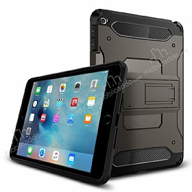 Spigen Tough Armor Military iPad Mini 4 Standlı Gunmetal Kılıf