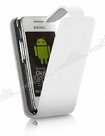 LG Optimus 3D P920 Beyaz Kapaklı Deri Kılıf