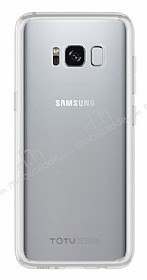 Totu Design Crystal Soft Samsung Galaxy S8 Plus Şeffaf Silikon Kenarlı Ultra İnce Rubber Kılıf