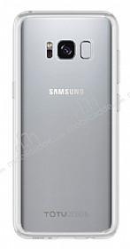 Totu Design Crystal Soft Samsung Galaxy S8 Şeffaf Silikon Kenarlı Ultra İnce Rubber Kılıf