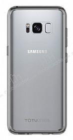 Totu Design Crystal Soft Samsung Galaxy S8 Şeffaf Siyah Silikon Kenarlı Ultra İnce Rubber Kılıf