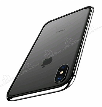 Totu Design Evoque Series iPhone X Metal Bumper Çerçeve Silver Kılıf