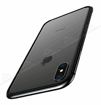 Totu Design Evoque Series iPhone X Metal Bumper Çerçeve Dark Silver Kılıf