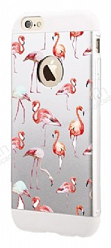 Totu Design Flamingo iPhone 6 Plus / 6S Plus Resimli Metal Kılıf