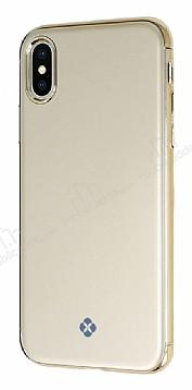 Totu Design Furios iPhone X / XS 3ü 1 Arada Gold Rubber Kılıf