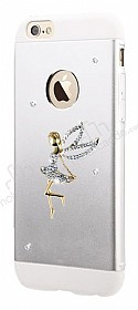 Totu Design Angel iPhone 6 Plus / 6S Plus Taşlı Metal Silver Kılıf