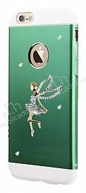 Totu Design Angel iPhone 6 Plus / 6S Plus Taşlı Metal Yeşil Kılıf