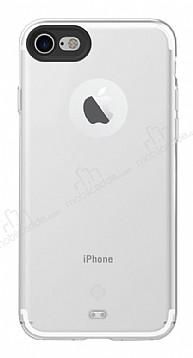 Totu Design iPhone 7 Kamera Korumalı Buzlu Beyaz Silikon Kılıf