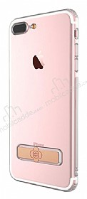Totu Design Keen iPhone 7 Plus / 8 Plus Standlı Rose Gold Silikon Kılıf