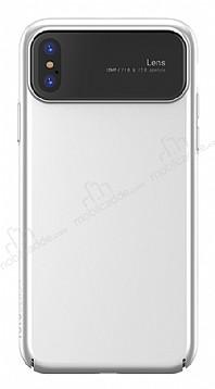 Totu Design Magic Mirror iPhone X / XS Beyaz Rubber Kılıf