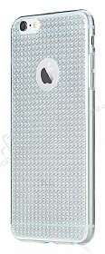 Totu Design Optic Texture iPhone 6 / 6S Silver Silikon Kılıf