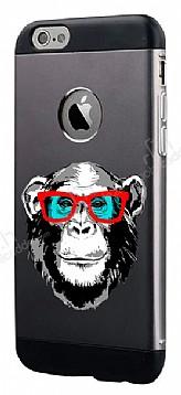 Totu Design Retro Monkey iPhone 6 Plus / 6S Plus Resimli Metal Kılıf