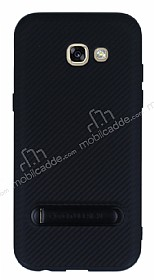 Totu Design Samsung Galaxy A7 2017 Standlı Karbon Rubber Kılıf