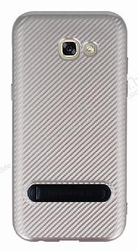 Totu Design Samsung Galaxy A5 2017 Standlı Karbon Gold Rubber Kılıf
