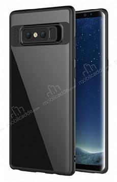 Totu Design Samsung Galaxy Note 8 Kamera Korumalı Silikon Kenarlı Siyah Rubber Kılıf