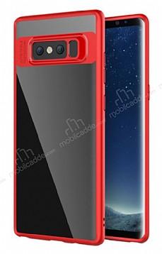 Totu Design Samsung Galaxy Note 8 Kamera Korumalı Silikon Kenarlı Kırmızı Rubber Kılıf