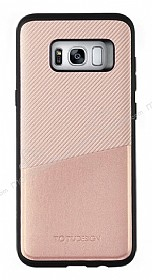 Totu Design Samsung Galaxy S8 Kartlıklı Pembe Rubber Kılıf