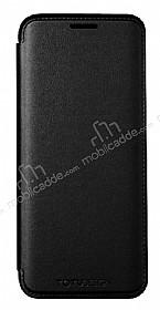 Totu Design Samsung Galaxy S8 Plus İnce Yan Kapaklı Siyah Deri Kılıf