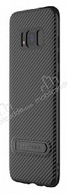 Totu Design Samsung Galaxy S8 Standlı Karbon Siyah Rubber Kılıf