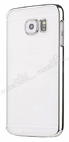 Totu Design Simple Samsung Galaxy S6 Edge Metalik Silver Kenarlı Kristal Kılıf