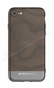 Totu Design Wood iPhone 7 / 8 Dark Silver Rubber Kılıf
