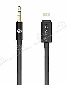 Totu Design Lightning 3.5mm Siyah Aux Kablo 1m