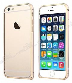 Totu Design iPhone 6 / 6S Mellow Series Gold Çizgili Bumper Çerçeve Gold Kılıf