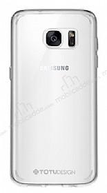 Totu Design Samsung Galaxy S7 edge Silikon Kenarlı Şeffaf Rubber Kılıf