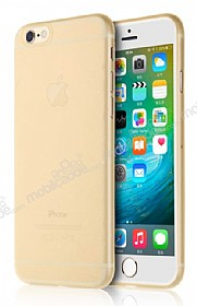 Totu Design Zero Series iPhone 6 Plus / 6S Plus Ultra İnce Gold Rubber Kılıf