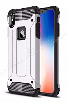 Tough Power iPhone XS Max Ultra Koruma Silver Kılıf