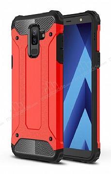 Tough Power Samsung Galaxy A6 Plus 2018 Ultra Koruma Kırmızı Kılıf