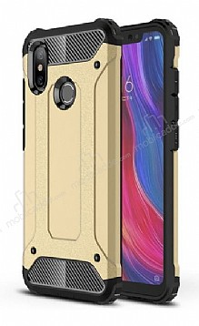 Tough Power Xiaomi Mi 8 SE Ultra Koruma Gold Kılıf