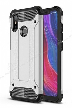 Tough Power Xiaomi Mi 8 Ultra Koruma Silver Kılıf
