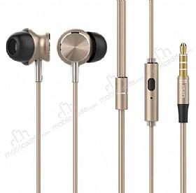 UiiSii Universal Mikrofonlu Gold Kulakiçi Metal Kulaklık