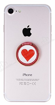Universal Kalpli Kırmızı Yüzük Telefon Tutucu
