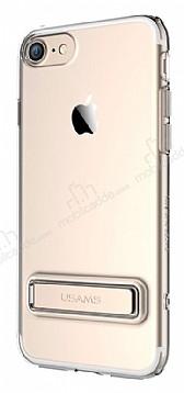 Usams iPhone 7 / 8 Standlı Gold Silikon Kılıf