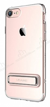 Usams iPhone 7 / 8 Standlı Rose Gold Silikon Kılıf